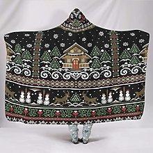 Manta con capucha de muñeco de nieve de Navidad,