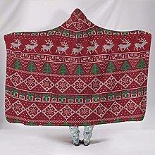Manta con capucha de Navidad, supersuave, manta