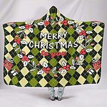 Manta con capucha muy suave para Navidad, manta