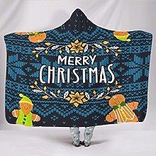 Manta con capucha muy suave para Navidad, para