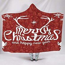 Manta con capucha supersuave para Navidad, con