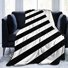 Manta de Microfibra Manta de Tiro Rayas Negro