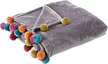 Manta gris de sofá infantil de poliéster de