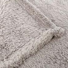 Manta para sofá glitter de color Gris