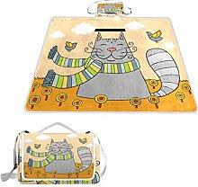 Manta rectangular impermeable para picnic, diseño