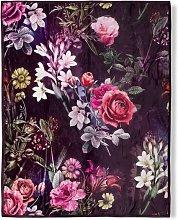 Manta SIMONE 130x160 cm Burdeos - Multicolor -