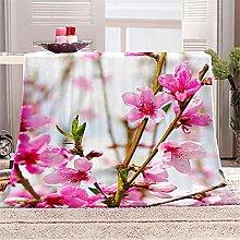 Mantas de Cama de Franela, Chickwin Floral Bedding