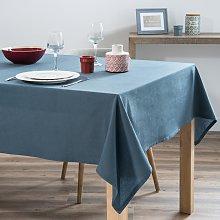 Mantel de algodón azul lavado 150x250