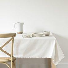 Mantel de algodón bio blanco 140x250