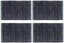 Mantel individual 4 uds Chindi liso algodón
