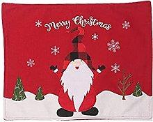 Mantel individual de gnomo navideño, material de