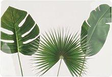 Mantel individual en forma de hoja tropical