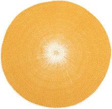 Mantel individual redondo de papel amarillo