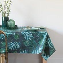 Mantel plastificado con estampado de jungla 140x250