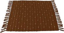Manteles individuales artesanales color marrón