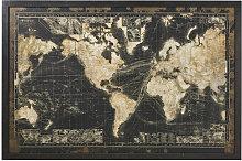 Marco luminoso con mapamundi negro 180x120
