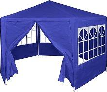 Marquesina con 6 paredes laterales azul 2x2 m -