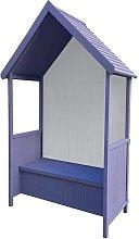 Marquesina de madera para jardín Alice Purple