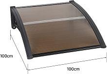 ® Marquesina de puerta 100*100 cm(marrón) -