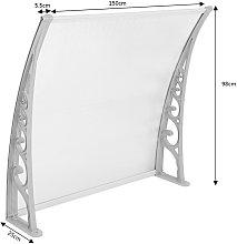 ® Marquesina de puerta 100*150 cm(transparente) -