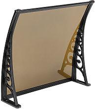 ® Marquesina de puerta 60 * 100 cm(marrón) -