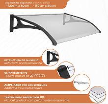 Marquesina Evoke aluminio 120x80cm. Panel sólido