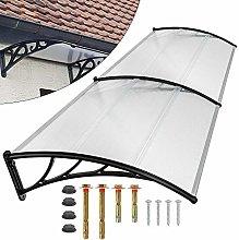 Marquesina para puerta de casa, tejado de 5 mm de