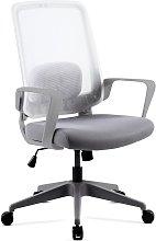 Mchaus - Silla oficina ergonomica giratoria blanca