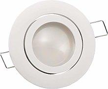McShine Lámpara LED empotrable para techo, Blanco
