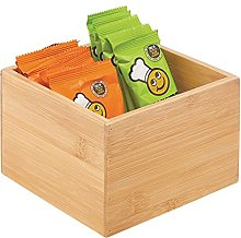 mDesign Caja de bambú de almacenaje –
