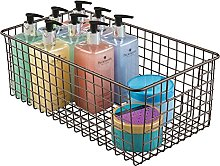 mDesign cesto organizador de baño color bronce