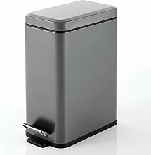 mDesign Cubo de basura rectangular con capacidad
