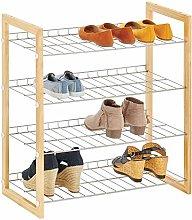 mDesign Estantería para zapatos con 4 baldas –