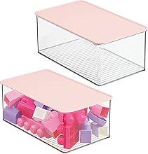 mDesign Juego de 2 cajas organizadoras para