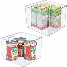 mDesign Juego de 2 cajas organizadoras para la