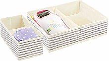 mDesign Juego de 2 cajas para guardar ropa en 2