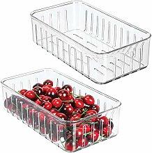 mDesign Juego de 2 cajas plásticas organizadoras