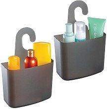 mDesign Juego de 2 cestas de ducha – Estante de