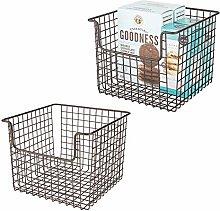 mDesign Juego de 2 cestas organizadoras Multiusos