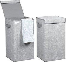 mDesign Juego de 2 cestos para ropa sucia en