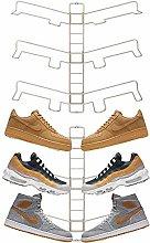 mDesign Juego de 2 organizadores de zapatos –