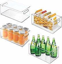 mDesign Juego de 4 cajas de almacenaje para nevera