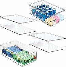 mDesign Juego de 4 cajas organizadoras de
