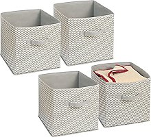 mDesign Juego de 4 cajas organizadoras en tela -