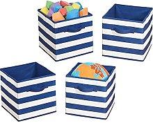 mDesign Juego de 4 cajas organizadoras para