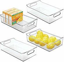 mDesign Juego de 4 fiambreras para el frigorífico