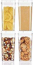 mDesign Juego de 4 recipientes para alimentos –
