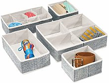 mDesign Juego de 5 cajas organizadoras para
