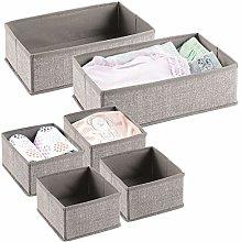 mDesign Juego de 6 cajas para guardar ropa –