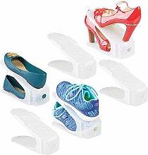 mDesign Juego de 6 organizadores de zapatos –